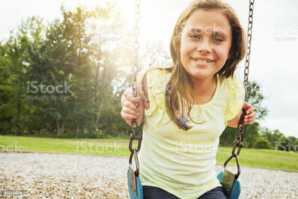 The joys of childhood stock photo