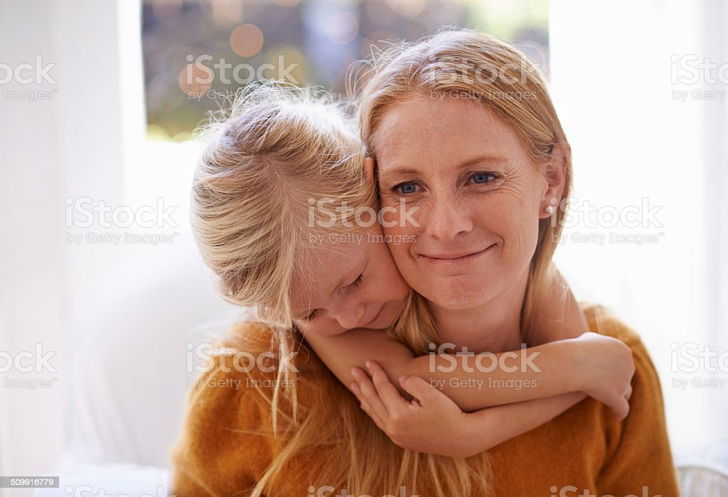 The joys of motherhood stock photo