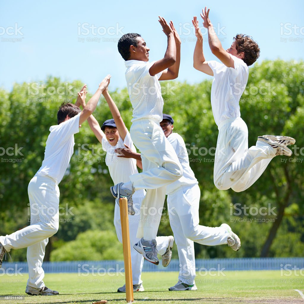 The joys of success in sport stock photo