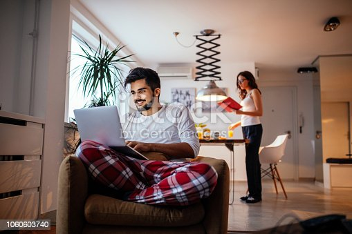 istock The joys of working at home 1060603740