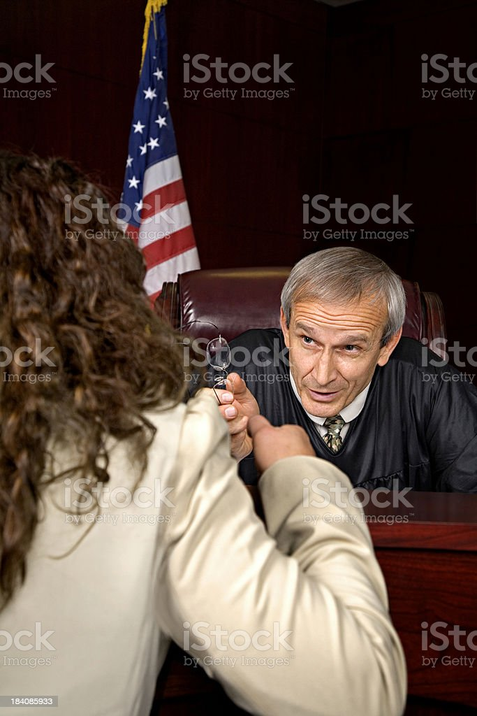 The Judge at a Serious Moment. stock photo