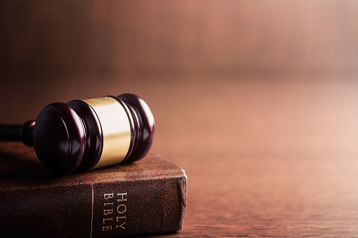 the judge gavel and holy bible