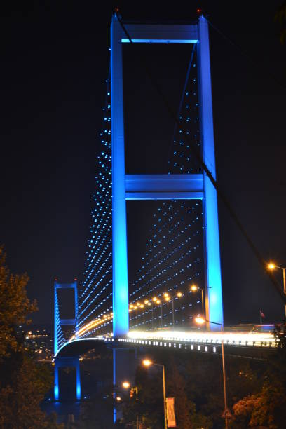 The July 15 Martyrs' Bridge in İstanbul stock photo
