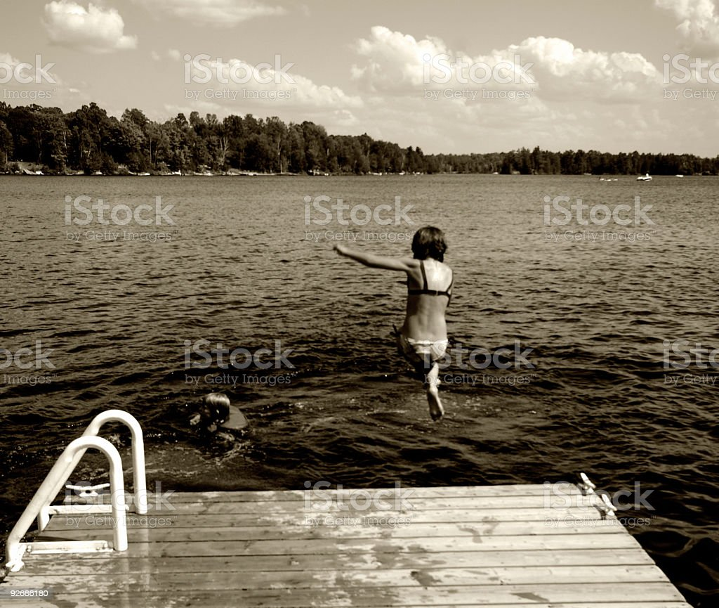 The Jump - Royalty-free 8-9 Years Stock Photo