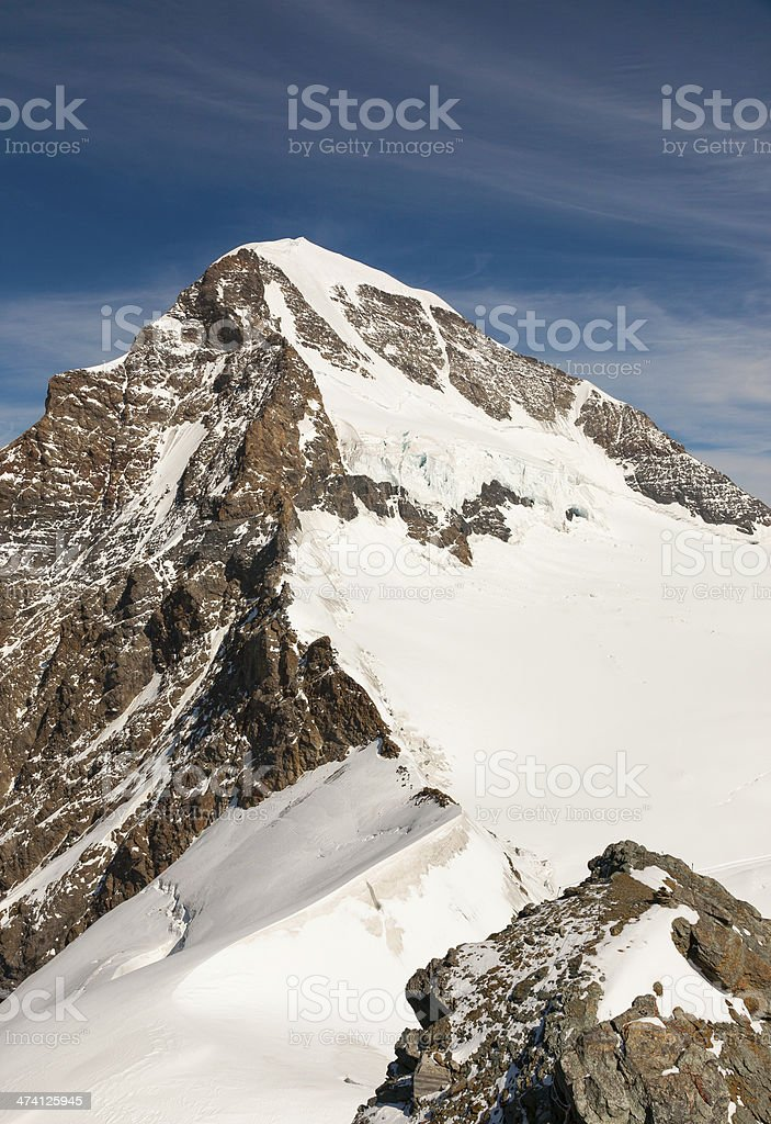The Jungfrau in Switzerland royalty-free stock photo