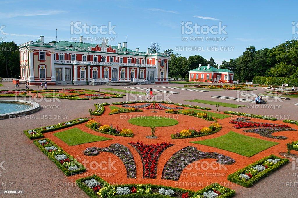 The Kadriorg palace in Tallinn, Estonia photo libre de droits