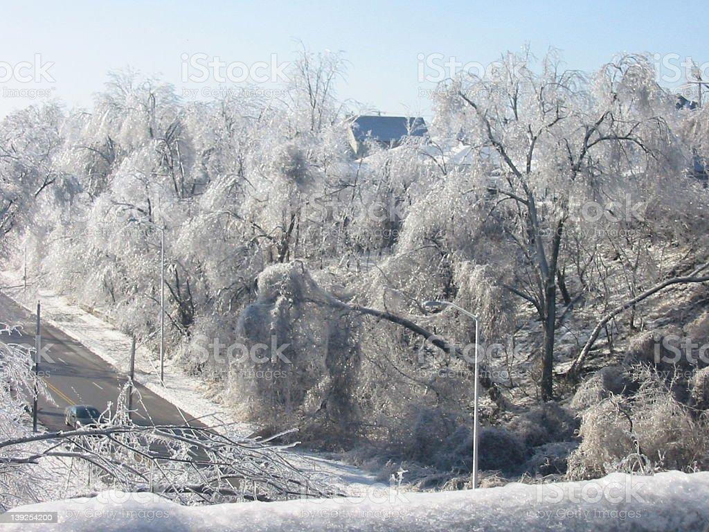 the Kansas City ice storm royalty-free stock photo