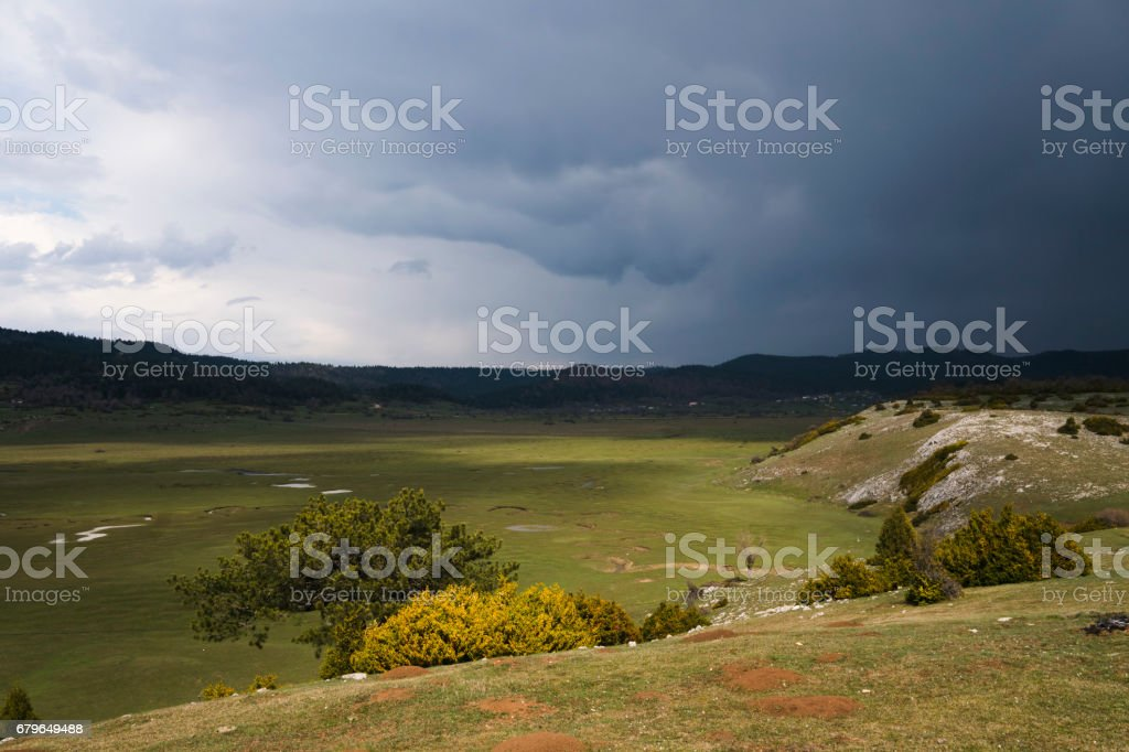 The Karagol Plateau with Beautiful Meanders stock photo