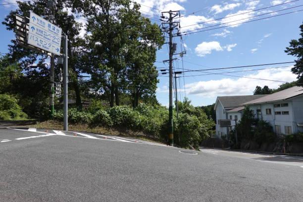 山口県秋吉台高原 Karstberg (斜面)。 ストックフォト