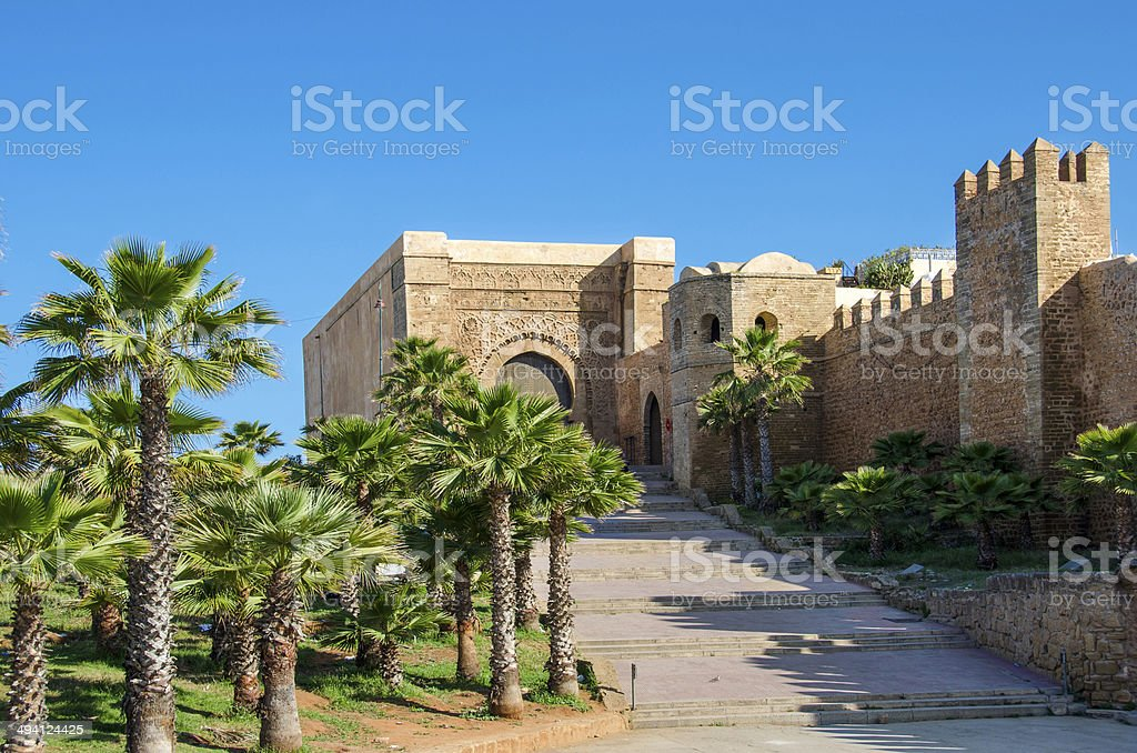 The Kasbah of the Udayas stock photo