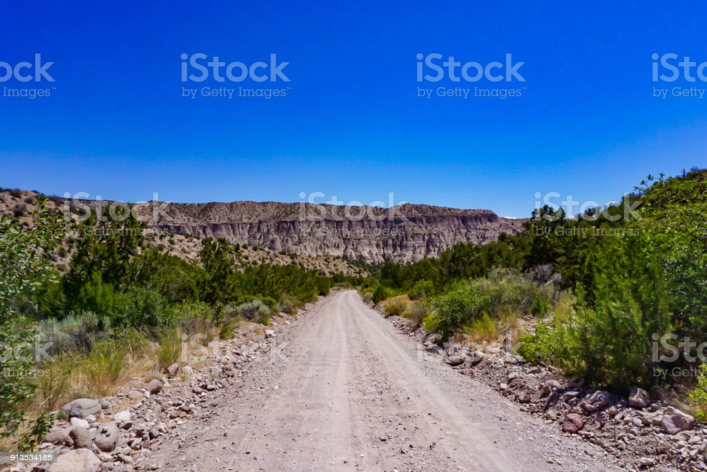 The Kasha-Katuwe Tent Rocks National Monument near Cochiti, New Mexico stock photo
