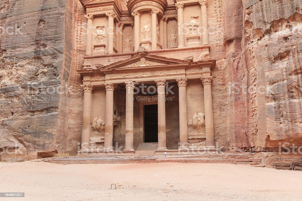 The Kasneh - Petra royalty-free stock photo