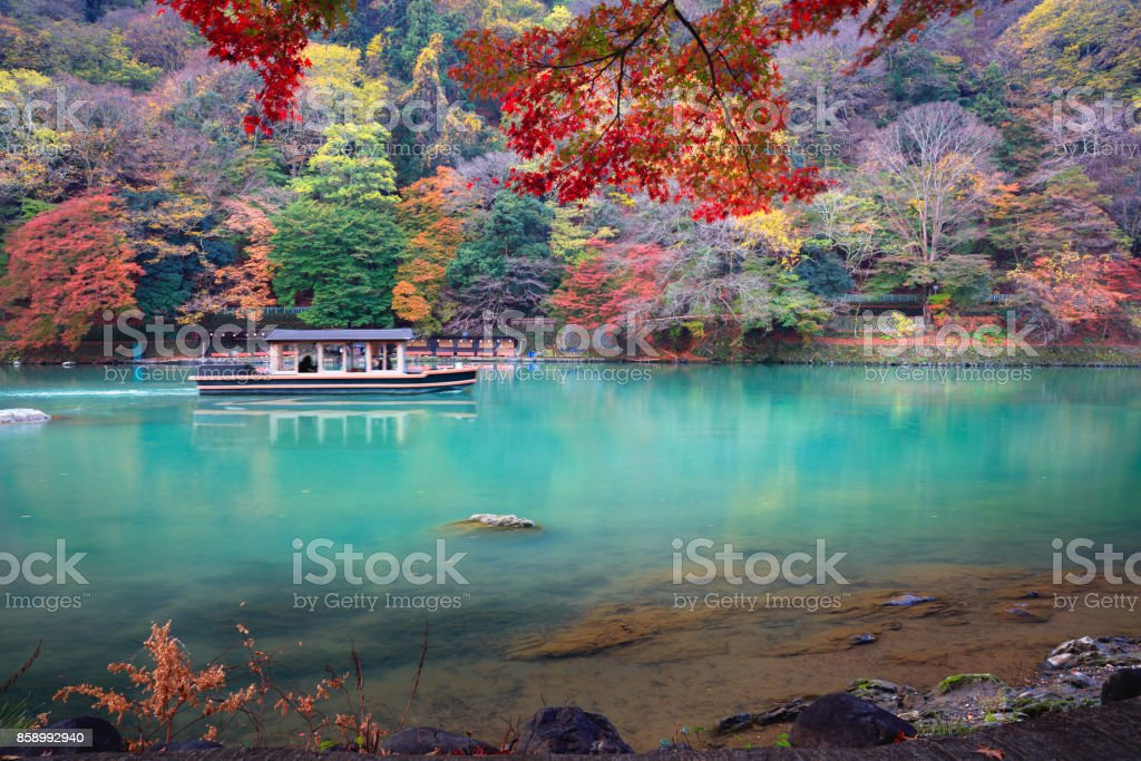 The katsura river in the autumn - foto stock