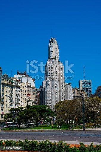 Buenos Aires, Argentina. October 14, 2018. The Kavanagh Building (Edificio Kavanagh) is an Art Deco skyscraper