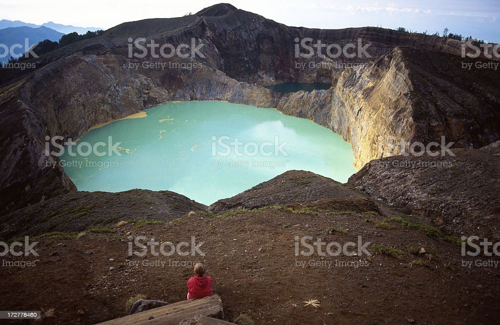 The Keli Mutu crater stock photo