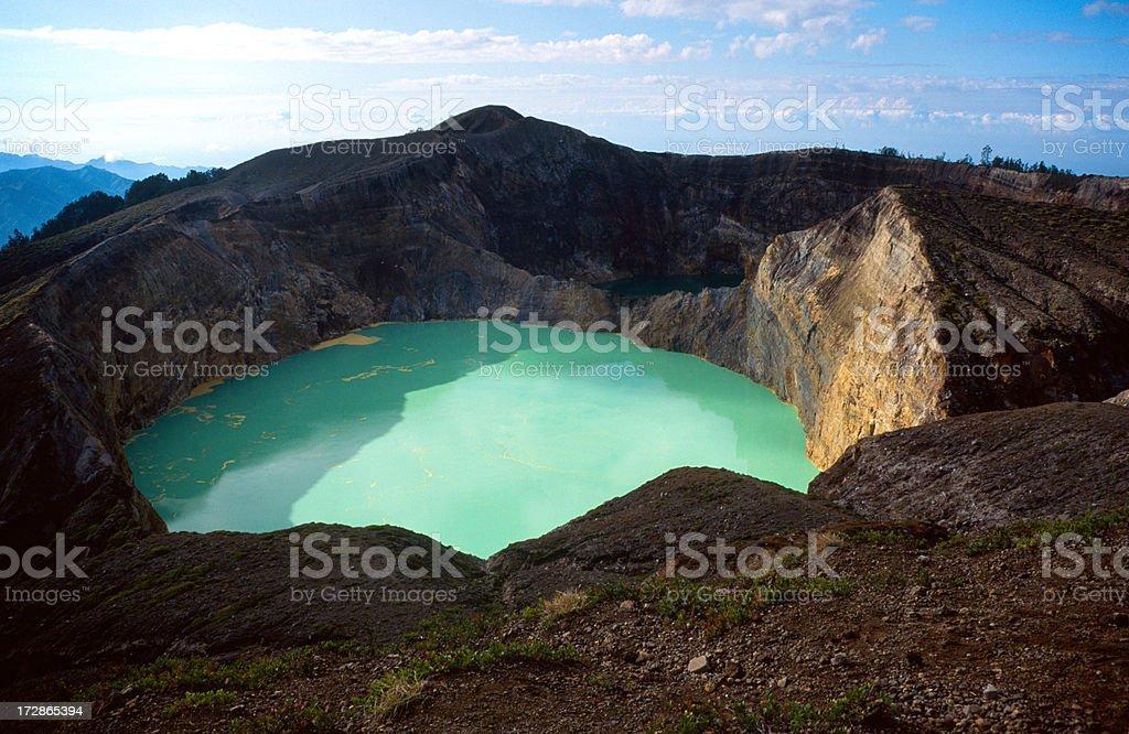 The Kelimutu Volcano royalty-free stock photo
