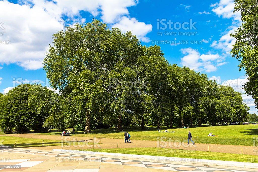 The Kensington Gardens and Hide Park, London, UK stock photo