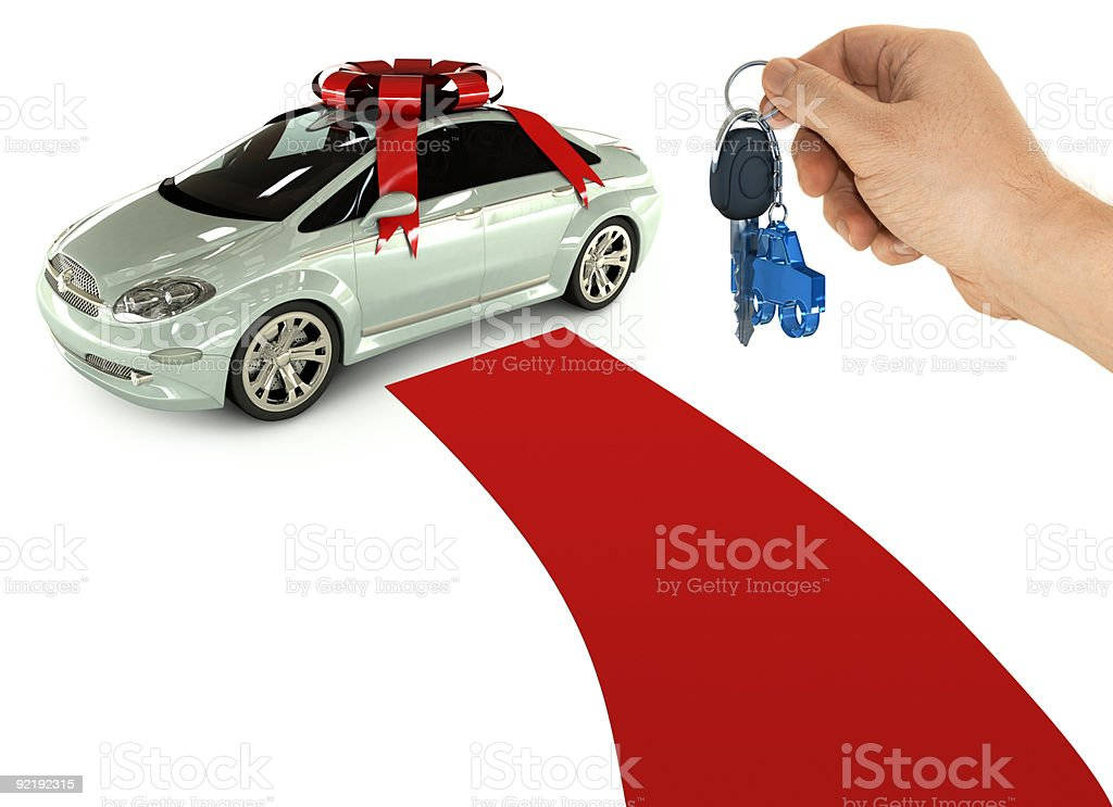 The key of a present car royalty-free stock photo