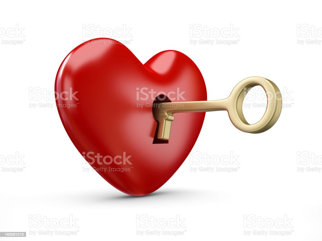 The Key of my heart royalty-free stock photo