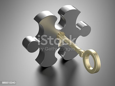 istock The key opens the puzzle. 889310040