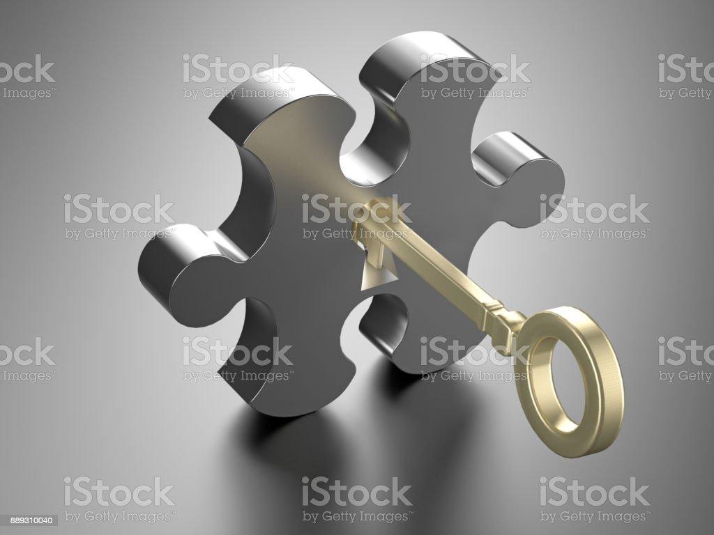 Der Schlüssel öffnet das Puzzle. – Foto