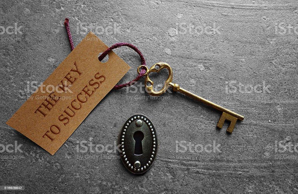 The key to success lock stock photo