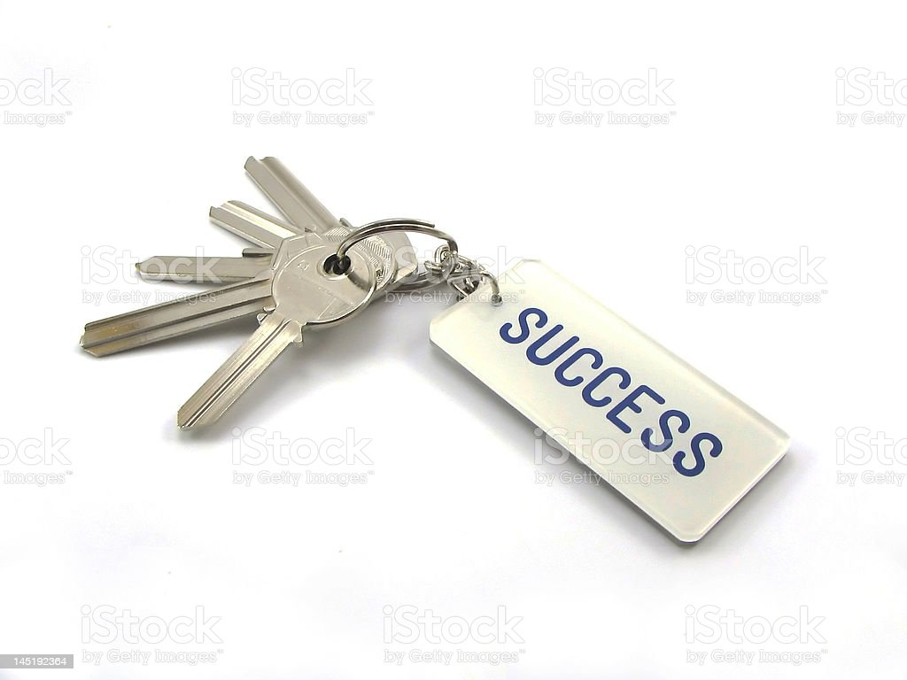 The keys of success stock photo