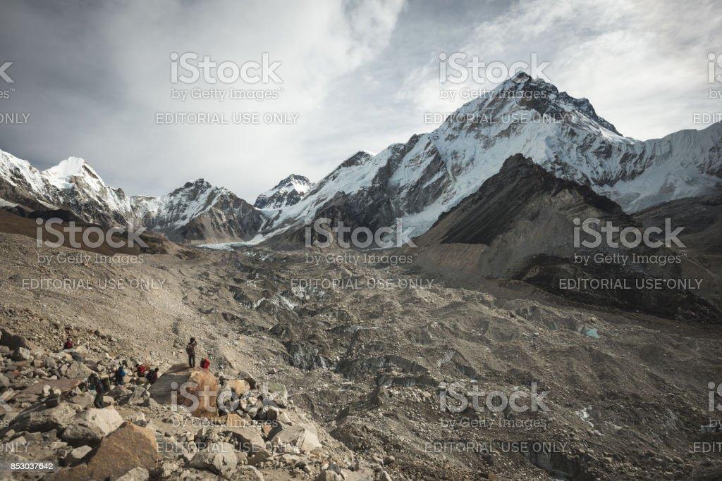 The Khumbu glacier stock photo