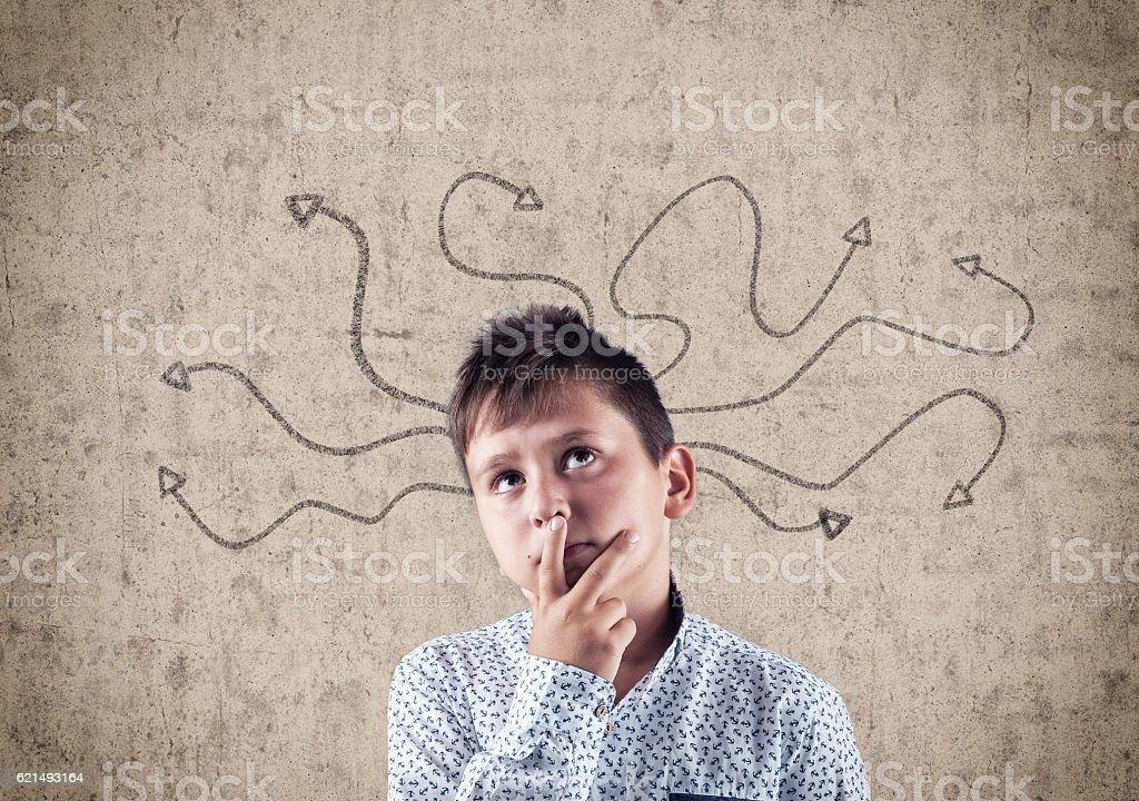 The kid thinker Lizenzfreies stock-foto