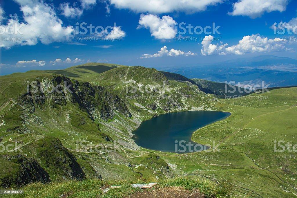 The Kidney - Rila lakes, Bulgaria. stock photo