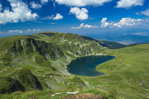 The Kidney - Rila lakes, Bulgaria. stock photo