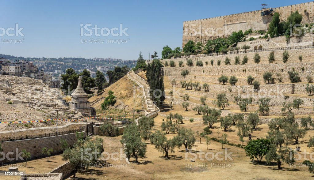 The Kidron Valley in Jerusalem, Israel stock photo