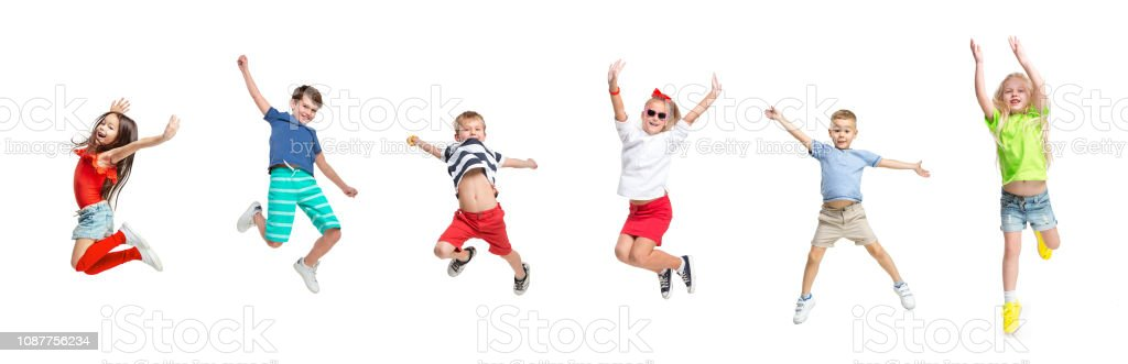 The kids dance school, ballet, hiphop, street, funky and modern dancers foto stock royalty-free