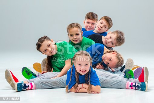 istock The kids dance school, ballet, hiphop, street, funky and modern 628118388