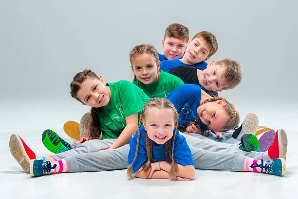 the kids dance school, ballet, hiphop, street, funky and modern - tipo di danza foto e immagini stock