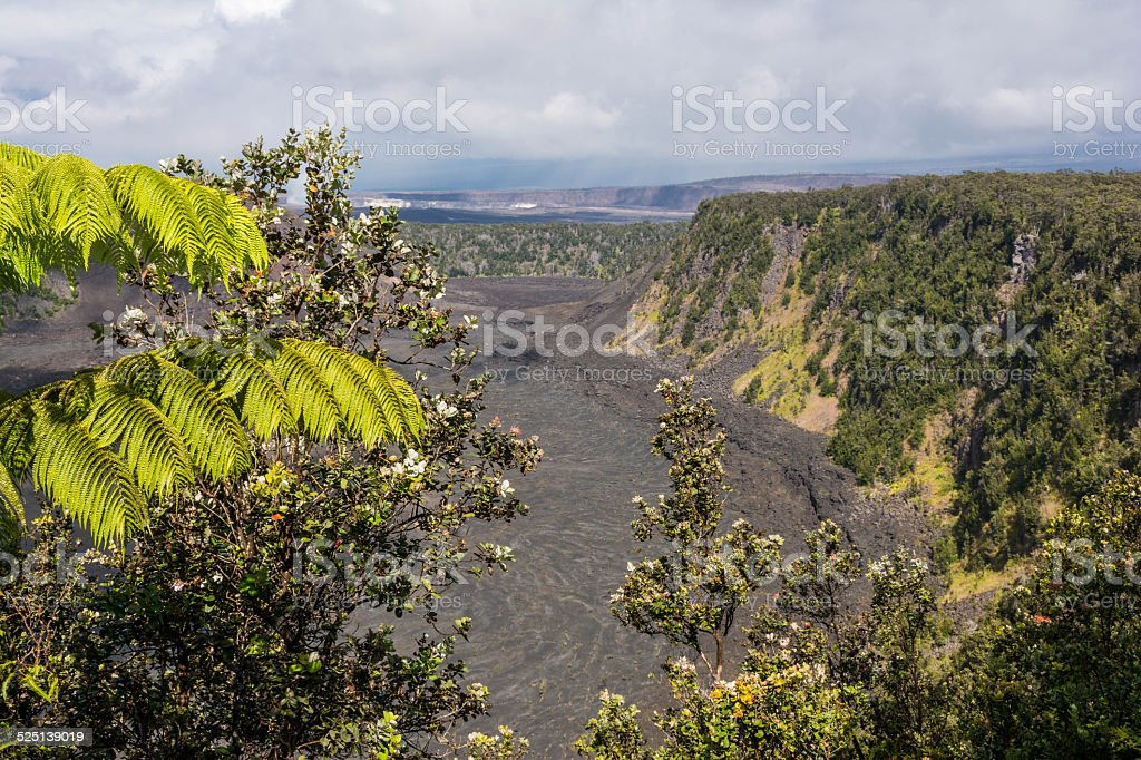 The Kilauea Caldera, Big Island stock photo