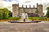 Kilkenny, Ireland - July 12, 2019: The Kilkenny Castle in Kilkenny Ireland
