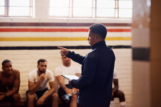The kind of coaching that can turn a game around stock photo