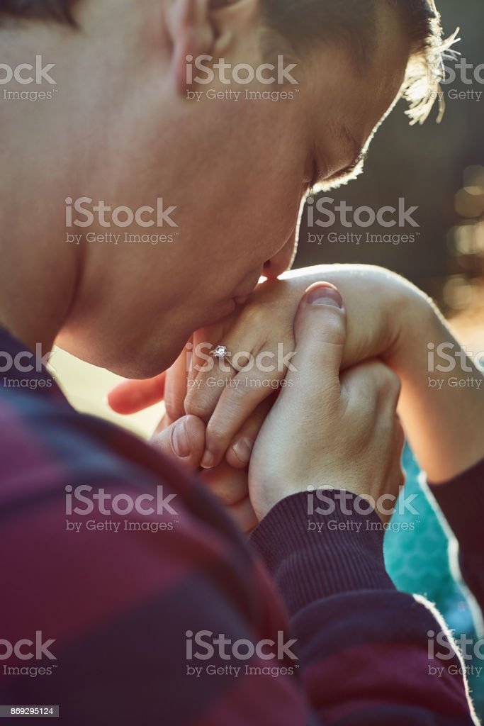 The kind of love you hold onto for life stock photo