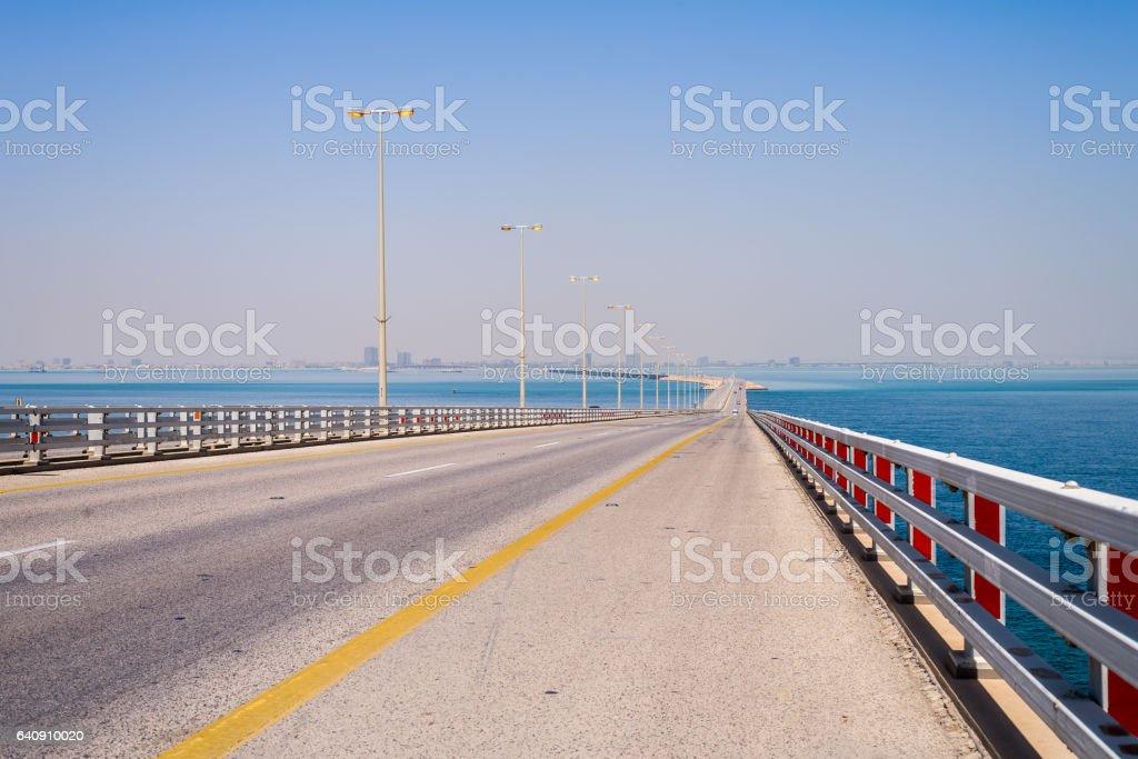 The King Fahd Causeway road bridge stock photo