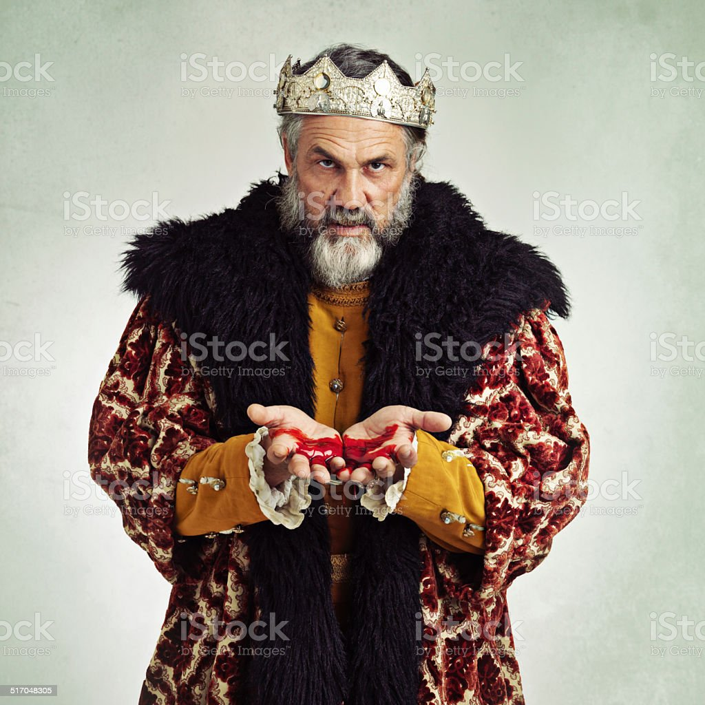 The king is dead! Long live...ME! stock photo