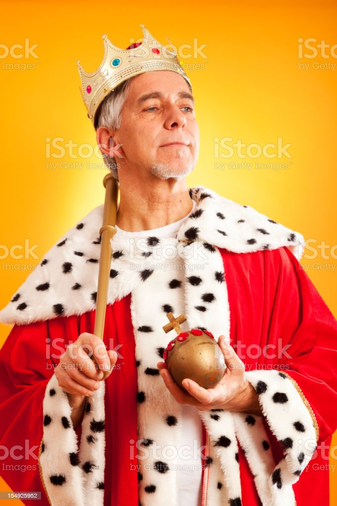 the king lives royalty-free stock photo