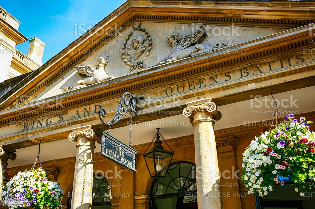 3bd699f49eb9 The King's and Queen's Baths building in Bath, UK royalty-free stock photo