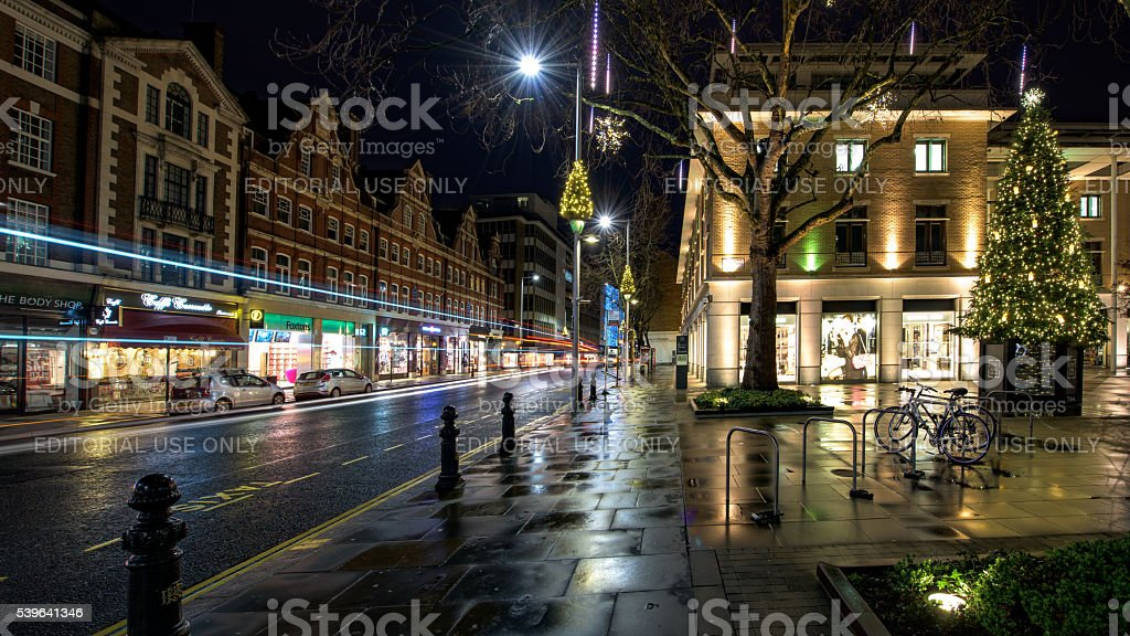 The King's road in Chelsea, London on a December morning stock photo