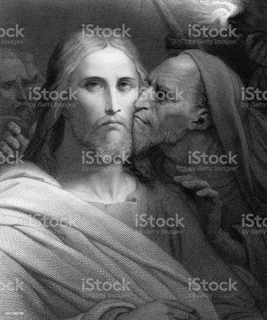 The kiss of Judas stock photo
