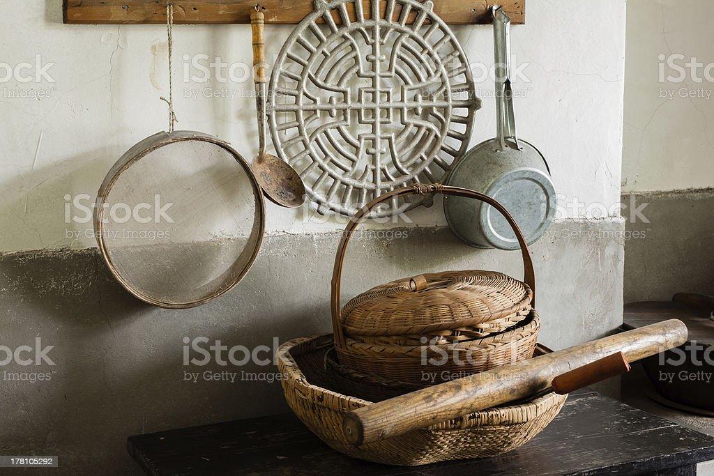The kitchen furnishings of China royalty-free stock photo