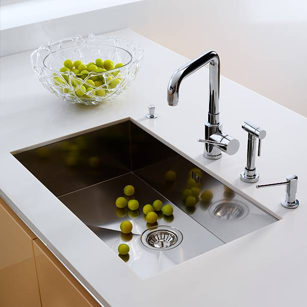 the kitchen sink - kitchen sink stock photos and pictures