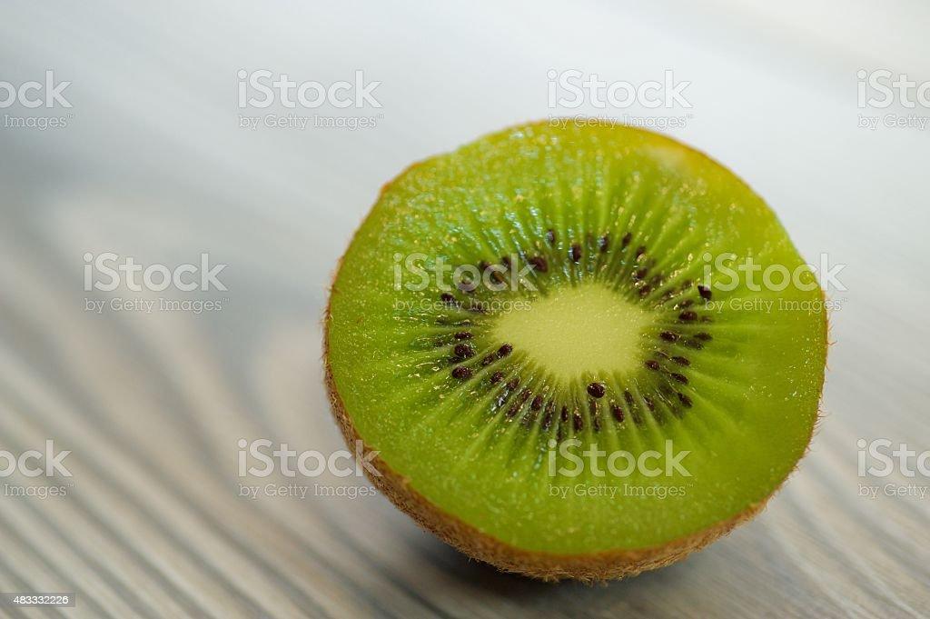 The Kiwis are the fruit of the summer season. stock photo