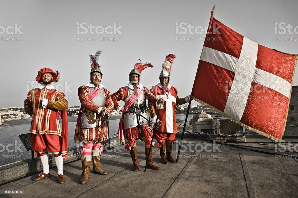 The Knights of Malta stock photo