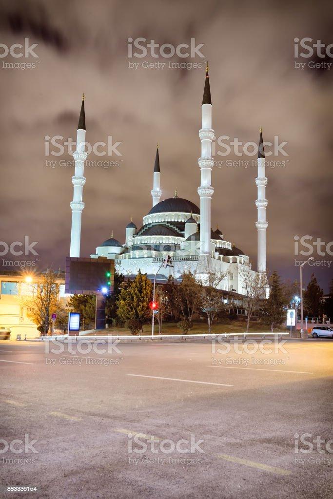 The Kocatepe Mosque in Ankara stock photo
